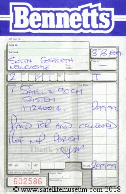 The Receipt from 1989