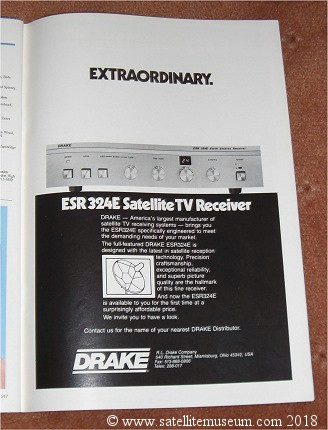 Drake ESR320E satellite receiver advert